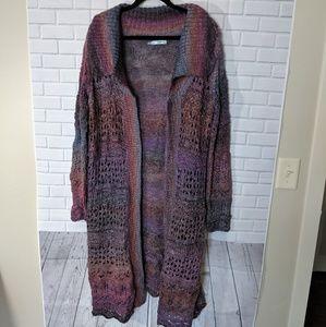 Maurices Multi-color Long Cardigan, Sz XL